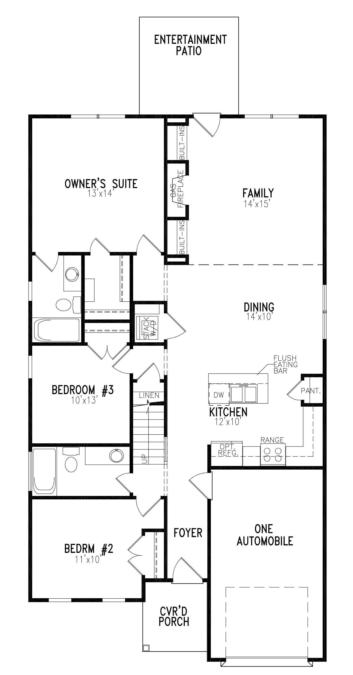 Denali plus floor plans from one27homes for Alaska floor plans
