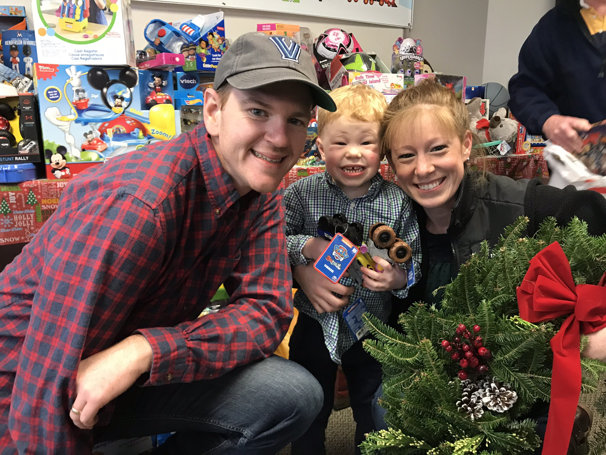 Young family at Trees for Toys