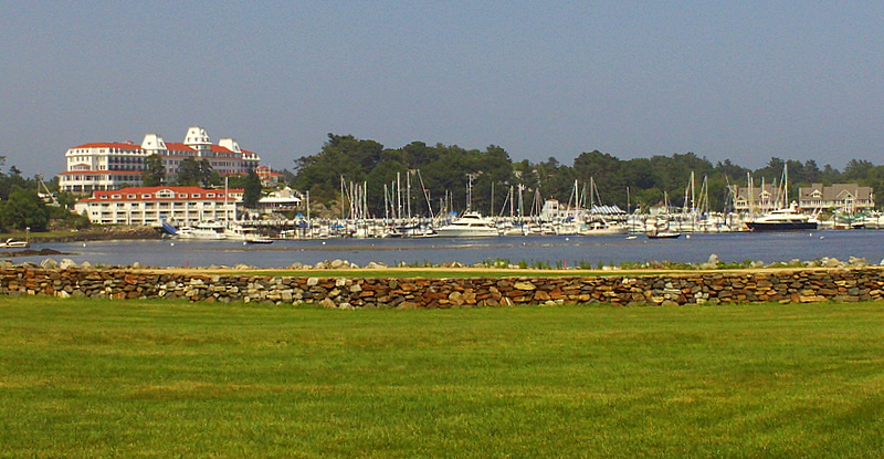 Historic Wentworth by the Sea hotel and spa and Wentworth Marina.