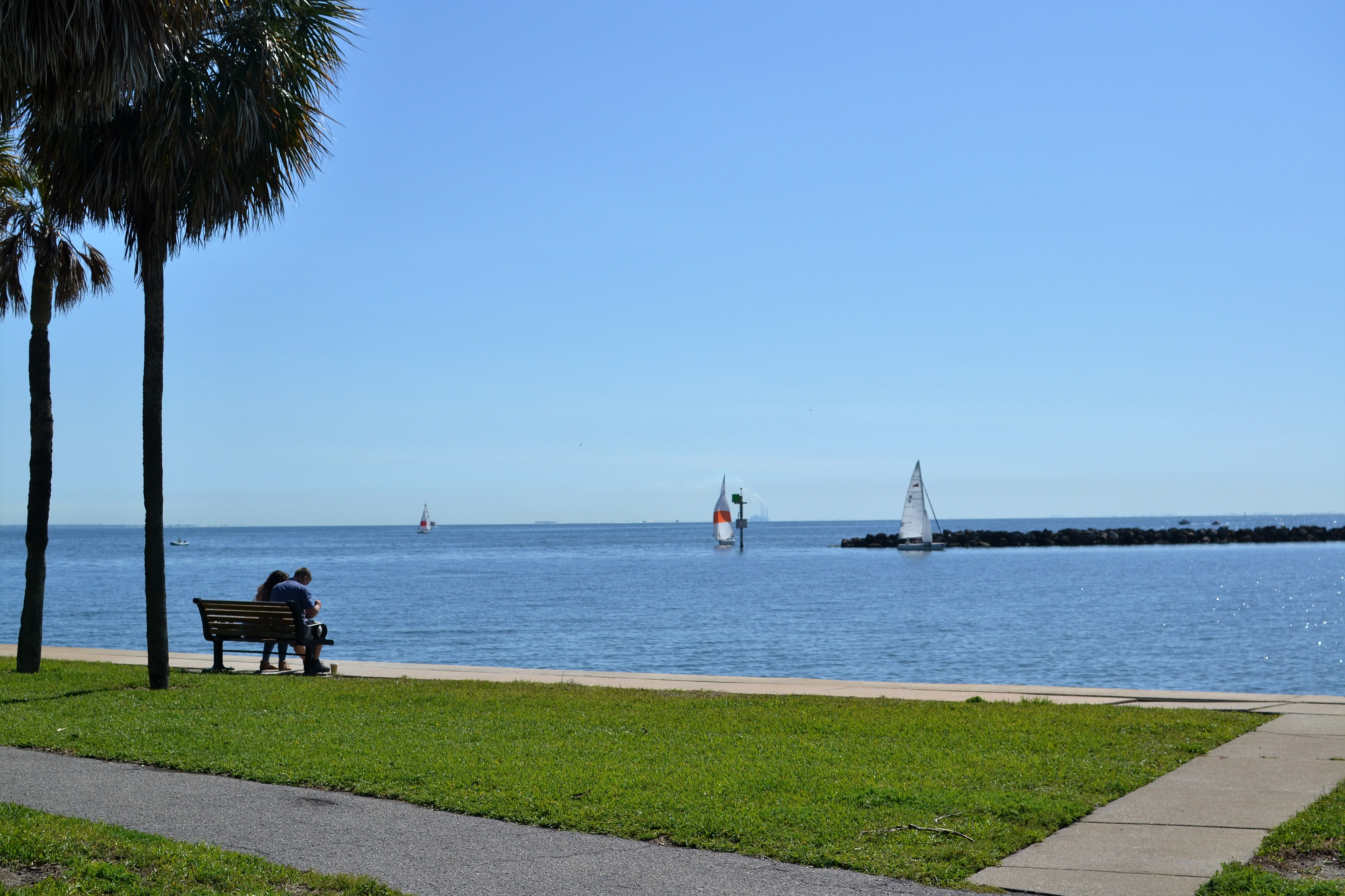 Albert Whitted Park is a beautiful place to take a stroll or bring the family for some play time by the water
